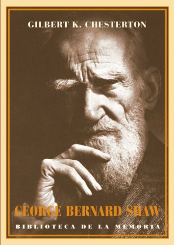 9788484725282: George Bernard Shaw (Biblioteca de la Memoria, Serie Menor)