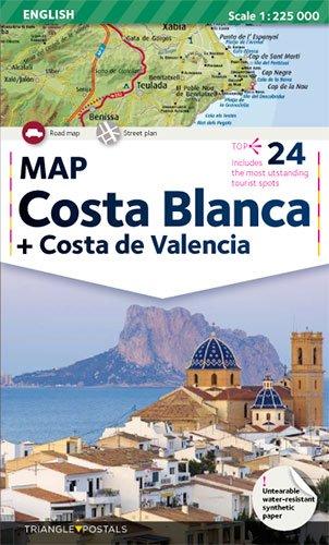 9788484781332: Costa Blanca: Mapa (Mapes)