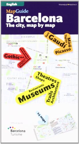 MapGuide Barcelona : the city, map by: Varios Autores