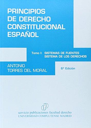 9788484811138: Principios De Derecho Constitucional Español I