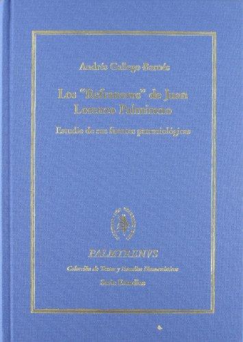 9788484832256: Los Refraneros de Juan Lorenzo Palminero (tela) (Palmyrenus)