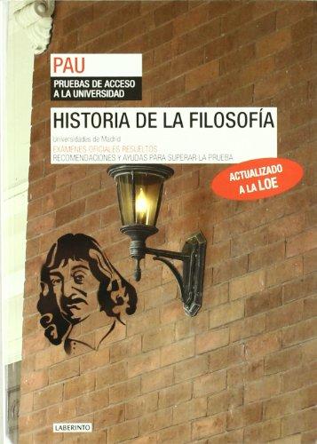 9788484834243: Historia de la Filosofía. Universidades de Madrid. Pruebas de acceso a la universidad (PAU)