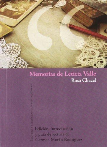 9788484894582: Memorias de Leticia Valle. Aparece junio de 2010.
