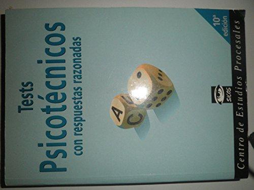 9788484937708: Test psicotecnicos con respuestas razonadas