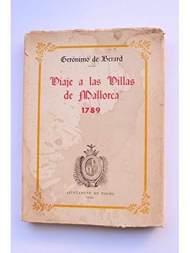 9788485048816: Viaje a las villas de Mallorca, 1789