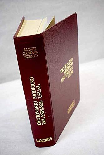 Diccionario moderno del espanol usual (Spanish Edition): Zamora Vicente, Alonso