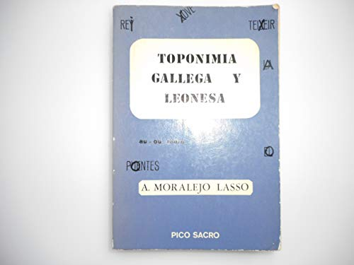 9788485170203: Toponimia Gallega y Leonesa.