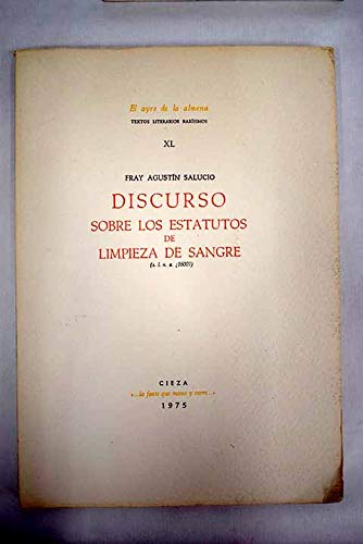9788485210008: Discurso sobre los estatutos de limpieza de sangre (El Ayre de la almena ; 40) (Spanish Edition)