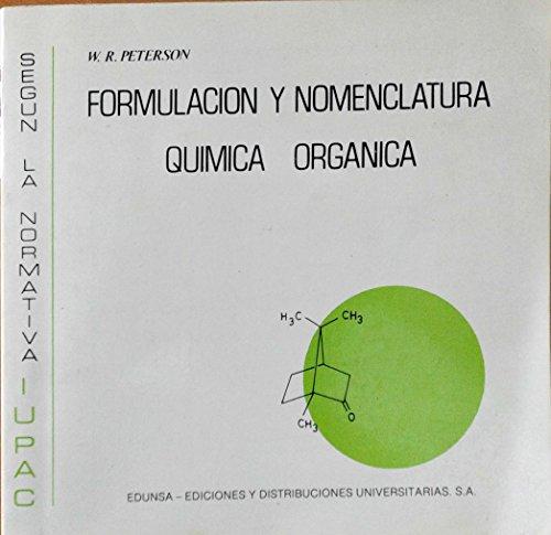 9788485257034: Formulacion y nomenclatura quimica organica
