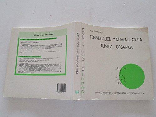 9788485257041: Formulacion Y Nomenclatura Quimica Organica