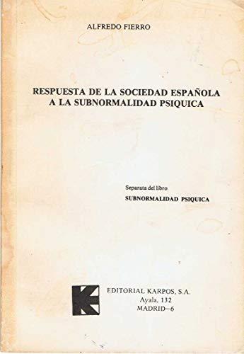 9788485261079: Subnormalidad psíquica
