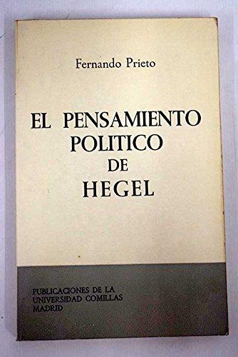 9788485281435: El pensamiento político de Hegel (Estudios)