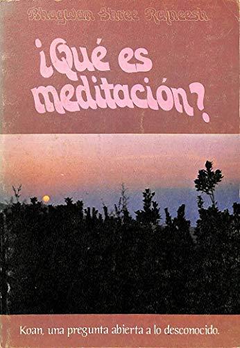 9788485351138: Que es la meditacion