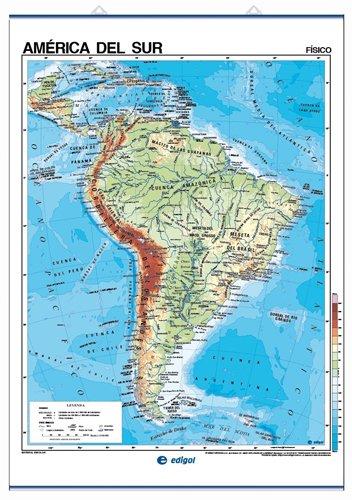 9788485406609: América del Sur, físico/político: Mapas Murales ...