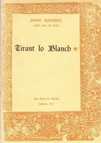 9788485446025: TIRANT LO BLANCH