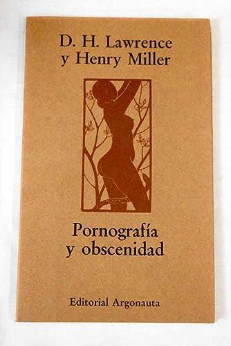 9788485464265: PORNOGRAFIA Y OBSCENIDAD / LA OBSCENIDAD Y LA LEY DE REFLEXION