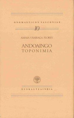 9788485479719: Andoaingo toponimia (Onomasticon Vasconiae)