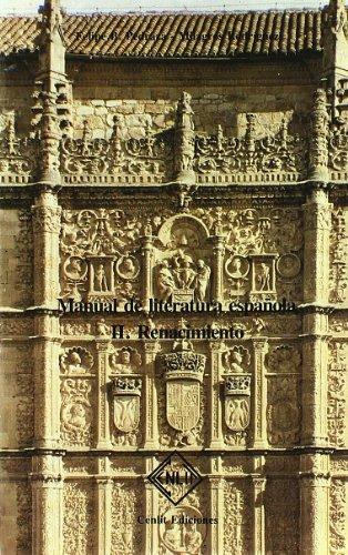 9788485511037: Manual de literatura española II - renacimiento