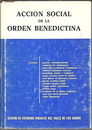 9788485519095: Acción social de la Orden Benedictina--
