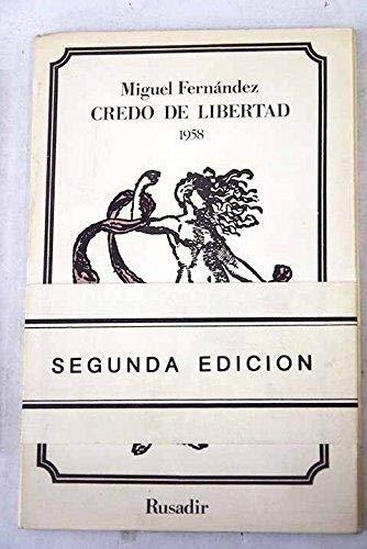 9788485551101: Credo De Libertad, 1958