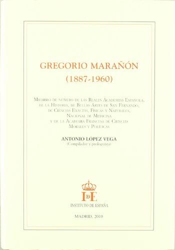 9788485559527: Gregorio marañon (1887-1960)