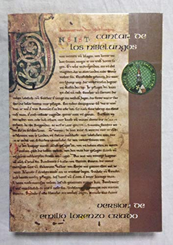 9788485595082 Cantar De Los Nibelungos Abebooks Lorenzo Emilio Versión 8485595084