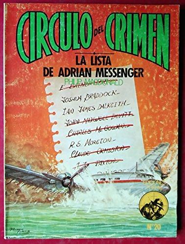 9788485604494: LA LISTA DE ADRIAN MESSENGER ( CIRCULO DEL CRIMEN Nº 20).