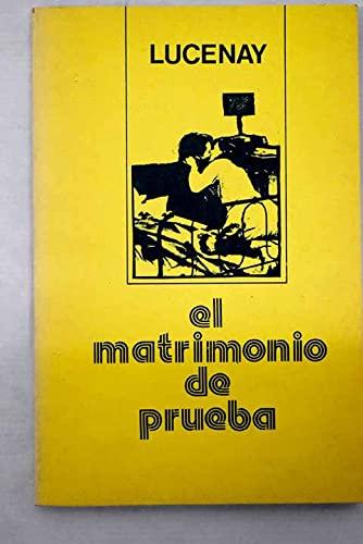 9788485637058: Matrimonio de prueba (Spanish Edition)