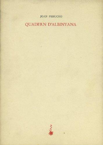 9788485704392: Quadern d'Albinyana (Poesia dels quaderns crema) (Catalan Edition)