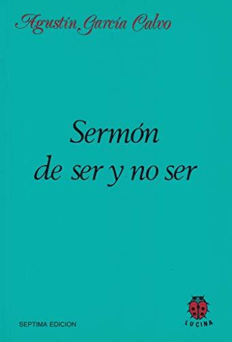 9788485708055: Sermón de ser y no ser