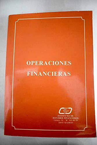 9788485742325: OPERACIONES FINANCIERAS