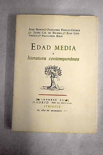 9788485762484: Edad media y literatura contemporánea (Biblioteca de autores españoles)