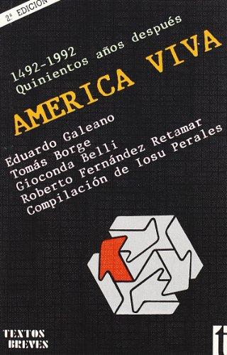 9788485781805: América viva (Textos Breves)