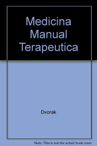 Medicina manual. Terapeutica.: SCHNEIDER, WERNER