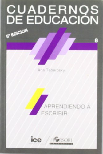 Aprendiendo a escribir (Spanish Edition): Teberosky, Ana