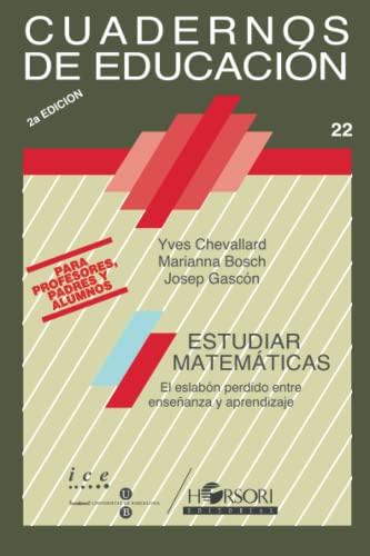 9788485840502: Estudiar Matemáticas (Cuadernos de educación) (Spanish Edition)