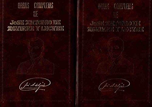9788485846047: Obras Completas Aguirre Y Lecube, J.A. (2 Tomo)