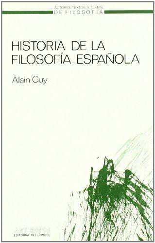 9788485887873: Historia De La Filosofía Española