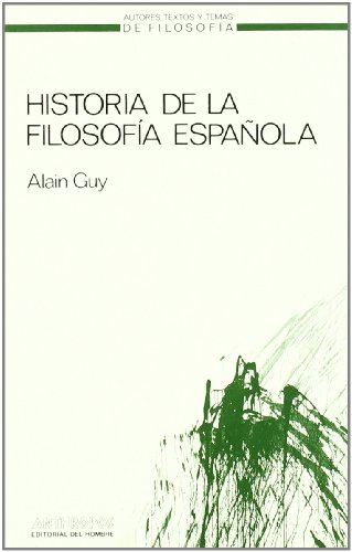 9788485887873: Historia de la filosofía española (Spanish Edition)