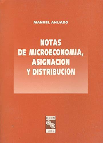 Notas de microeconomía, asignación y distribución: Ahijado, Manuel