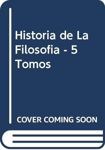 9788485950065: Historia de la filosofia, 5 vols.