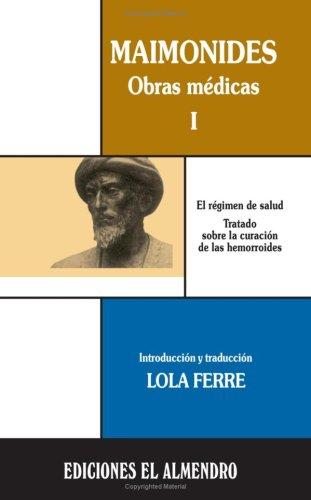 9788486077914: Maimonides, Obras Medicas I