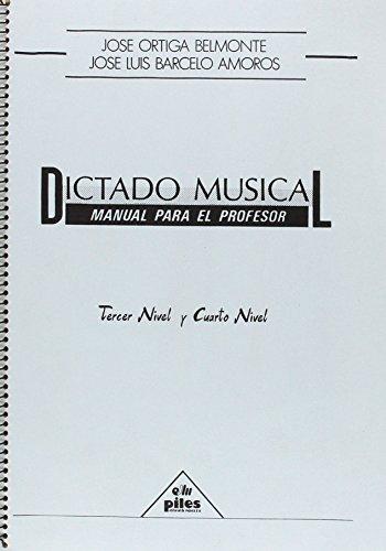 9788486106621: Dictado Musical. Profesor 3º y 4º