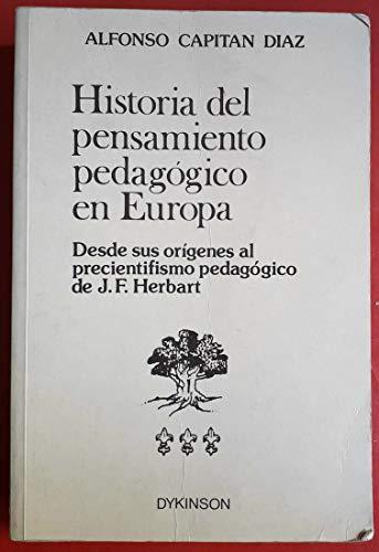 9788486133078: HISTORIA DEL PENSAMIENTO PEDAGOGICO EN EUROPA I