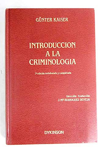 9788486133405: Introduccion a la criminologia