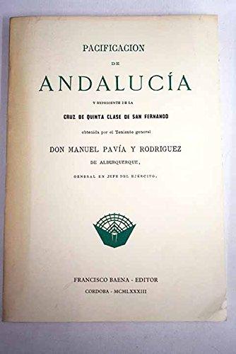 """9788486137014: Pacificación de Andaluc¸a (Colección """"Recuperación de documentos para la historia de Andaluc¸a)"""