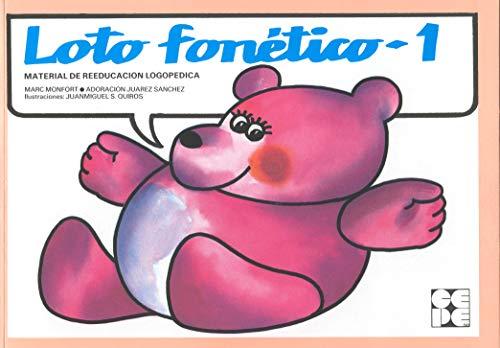 Loto fonético 1 : material de reeducación: Adoracion Juarez Sanchez,
