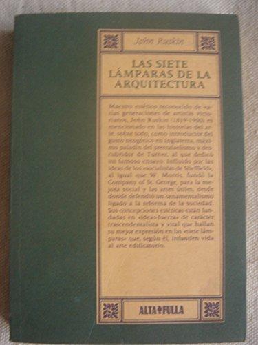 9788486556174: Las siete lamparas de la arquitectua