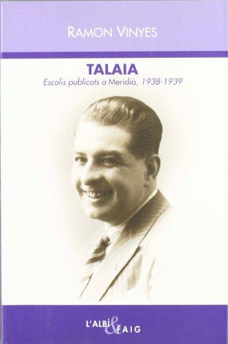9788486631895: talaia-escolis-publicats-a-meridia-1938-1939