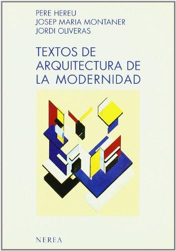 9788486763855: Textos de Arquitectura de la modernidad